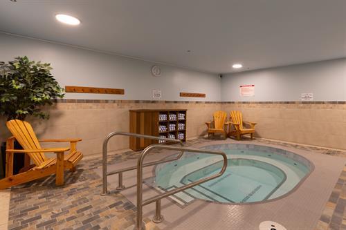 newly renovated hot tub