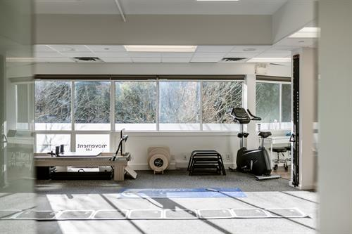 Gym space with a view to Blackcomb Mountain