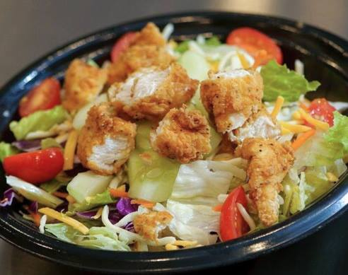 Fresh salads prepared for you as you order!