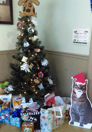 Local rescue groups benefit from our Annual Pet Angel Tree.