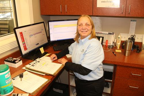 Service manager Carolyn R.