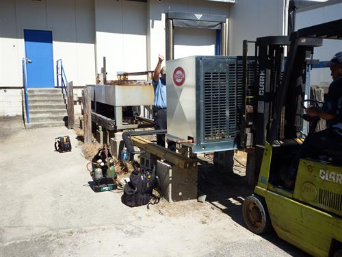 Replacing an outdoor condenser for a large Refrigerated warehouse