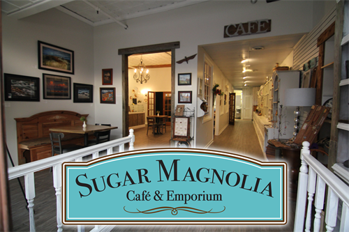 Walking into Sugar Magnolia Cafe