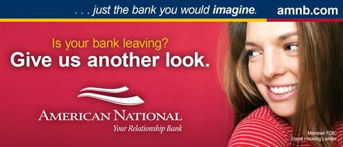 "24'x10.333' billboard for American National Bank & Trust - ""Give Us Another Look"" Campaign"