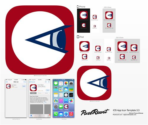 Card Watch app icon design (final) for American National Bank & Trust
