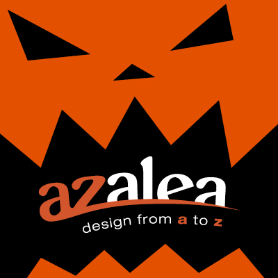 "Special themed Facebook profile pic for Azalea Graphics (my previous employer), for our ""26 Days of Halloween"" campaign."