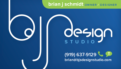 BJS Design Studio Business Card (front)