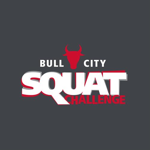 Close-Up of Bull City Squat Challenge Logo/T-Shirt Art