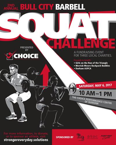 Bull City Squat Challenge Poster