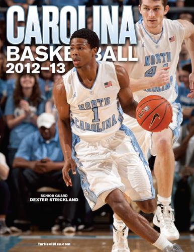Carolina Baskeball game program cover. I had done several of these over my years with Azalea Graphics before their closure at the end of 2016.