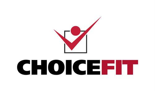 "Simplified ""ChoiceFit"" logo for sleeves on Diabetes Run/Walk T-shirts for Choice Performance Center"