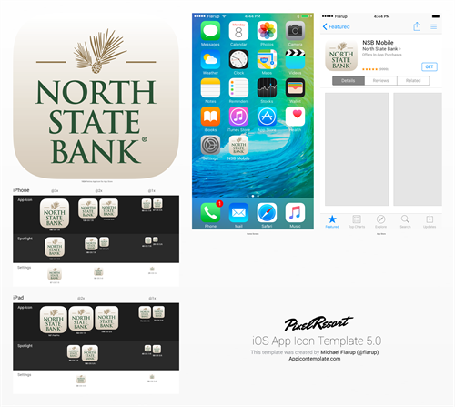 Mobile banking app icon design (final) for North State Bank