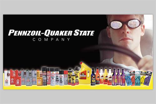 Pennzoil-Quaker State Product Banner/Billboard