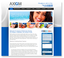 Website Design: Axiom Dentistry