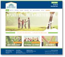 Website Design: Wake Forest Baptist Church
