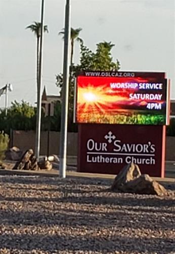 Our Saviors Lutheran digital sign