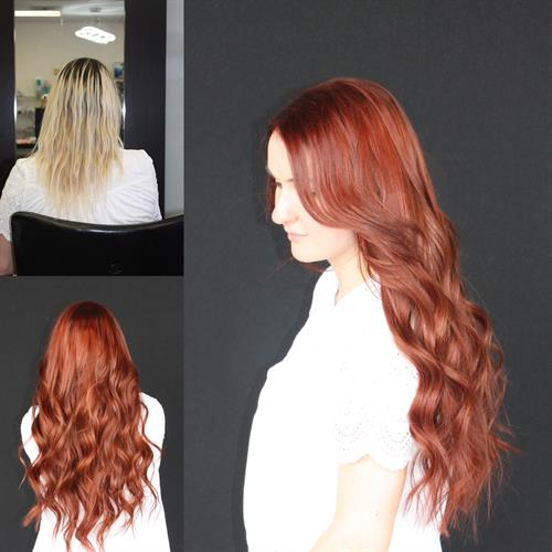 Red heads have more fun especially with extensions
