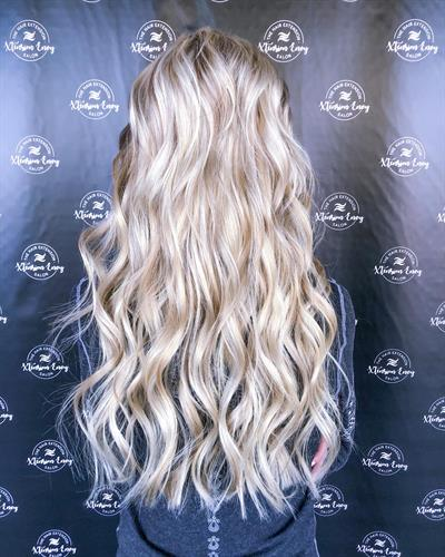 Blonde beautiful long extensions