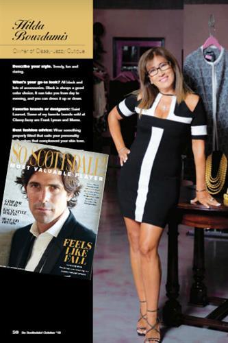 Hilda Bourdamis featured in SO Scottsdale Magazine Oct-2018