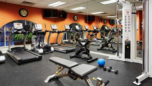 Fitness center on the 2nd floor, open 24 hours
