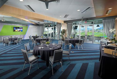 Topgolf Salt Lake City Signature Room - Banquet Setup