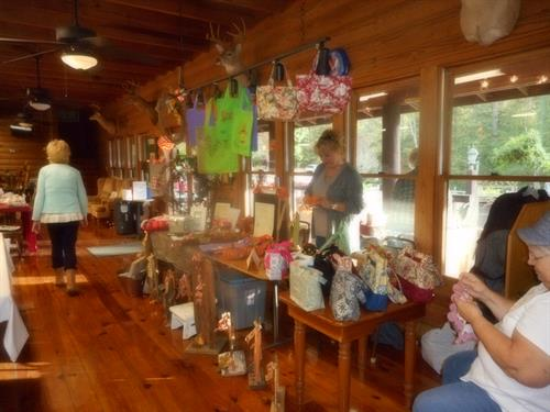 Two annual craft shows/yard sales a year and the public is invited.