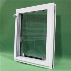 In Glass Pet Door