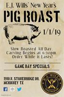E.J. Wills Gastropub's New Year's Day Pig Roast