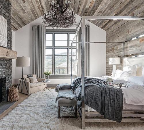 Bedroom Remodel - Rustic Wood Walls