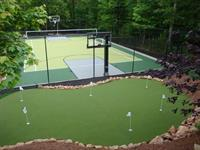 Residential Putting Golf Greens, Synthetic Turf, Artificial Grass, Athletic Courts