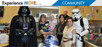 CUTX visits Children's Medical Hospital for May the 4th