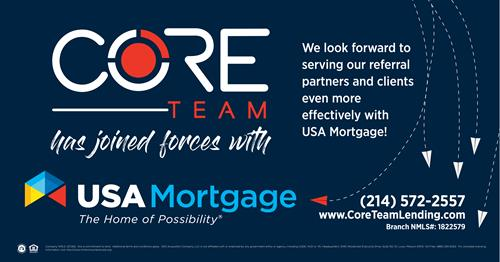 CORE Team Joins Forces with USA Mortgage