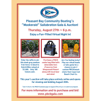"Pleasant Bay Community Boating's ""Maskeraid"" Salabration Gala & Auction!"
