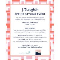 J.McLaughlin Spring Styling Event To Celebrate International Women's Day in Support of Cape Cod Resilience Fund