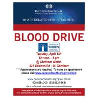 Cape Cod Healthcare Blood Drive Sponsored by Chatham Works