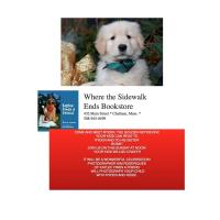 COME AND MEET RYDER, THE GOLDEN RETRIEVER AT WHERE THE SIDEWALK ENDS BOOKSTORE!