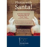 Photos with Santa at Puritan Cape Cod!