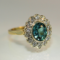 A Beautiful Tourmaline and Diamond Ring