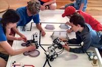 A typical Summer Science Robotics class - one of many