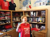 Princess Elettra Marconi shops at our museum store!