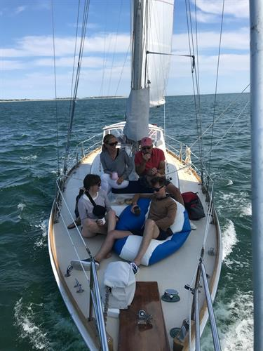 Up on the bow with Cape Sailing Charters