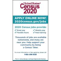 UNITED STATES CENSUS 2020 POSITIONS AVAILABLE - APPLY NOW!