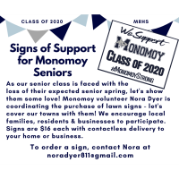 Signs of Support for Monomoy Senior Class of 2020