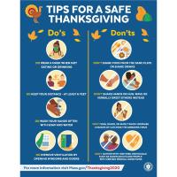 Tips for a Safe Thanksgiving Flyer - Do's and Don'ts