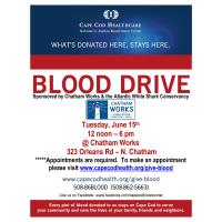 Cape Cod Healthcare Blood Drive - June 15, 2021 at Chatham Works