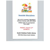 Seaside Storytime - South Chatham Public Library - August 13, 2021