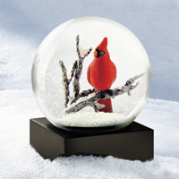 Cardinal Snow Globe Holiday Gift