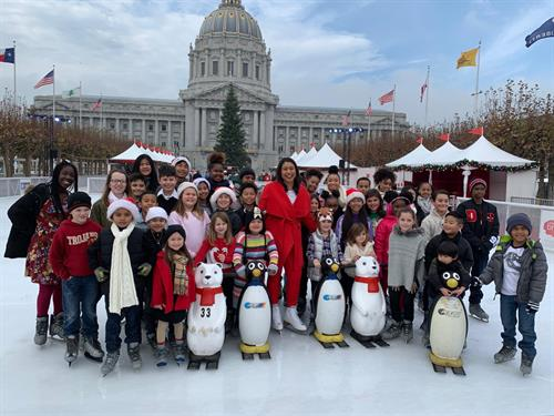 Ice skating with Mayor London Breed 12/2019