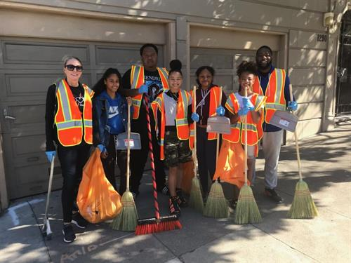 Project Level cleans up neighborhood with Sup. Vallie Brown 10/2018