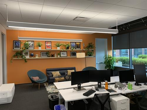 We work collaboratively with design companies to help set up new office spaces.